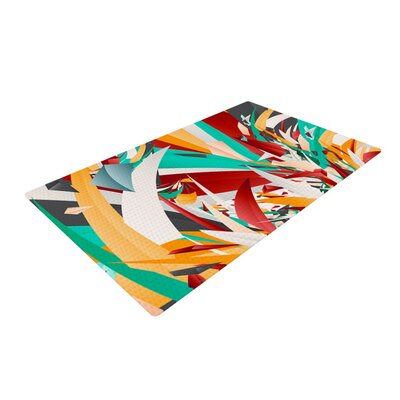 Danny Ivan Lafaye Teal/Red Area Rug Rug Size: 4 x 6