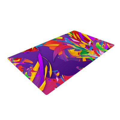 Danny Ivan Shooting Rainbow Purple Area Rug Rug Size: 4 x 6