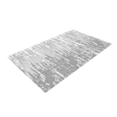 Frederic Levy-Hadida Drops Gray Area Rug Rug Size: 2 x 3