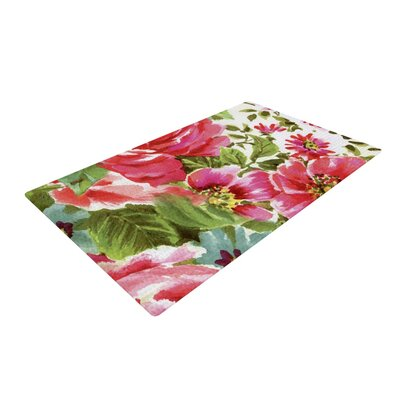 Heidi Jennings Walk Through the Garden Flowers Pink Area Rug