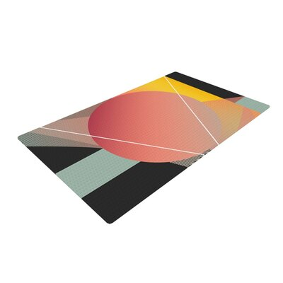 Danny Ivan Objectum Abstract Pink Area Rug Rug Size: 2 x 3