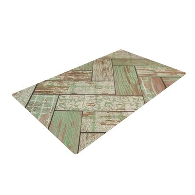 Heidi Jennings Patina Wood Green Area Rug Rug Size: 2 x 3