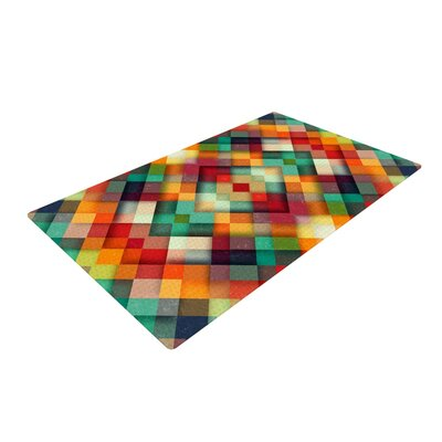 Danny Ivan Time Between Geometric Abstract Yellow/Blue Area Rug Rug Size: 4 x 6