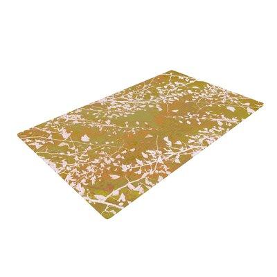 Iris Lehnhardt Twigs Silhouette Earthy Green/White Area Rug Rug Size: 2 x 3