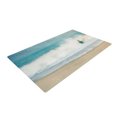 Ingrid Beddoes Ocean Wave Blue/White Area Rug Rug Size: 4 x 6