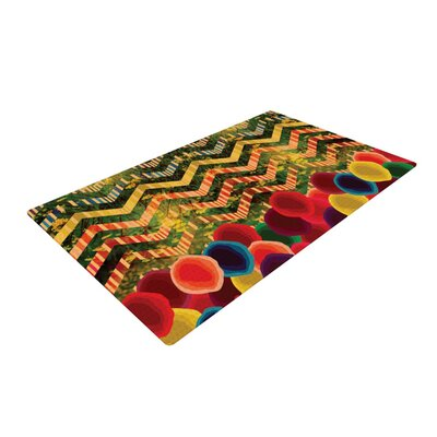 Deepti Munshaw Chevron and Dots Rainbow Area Rug Rug Size: 4 x 6