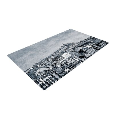 Ingrid Beddoes A Riberia City Gray Area Rug Rug Size: 2 x 3