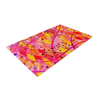 Ebi Emporium into the Fall Orange/Pink Area Rug Rug Size: 2 x 3