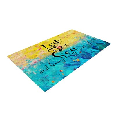 Ebi Emporium Lost at Sea Yellow/Blue Area Rug Rug Size: 4 x 6