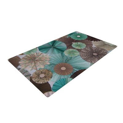 Heidi Jennings Blossoming Brown/Blue Area Rug Rug Size: 2 x 3