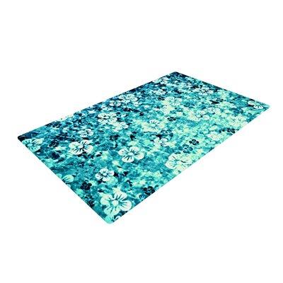 Ebi Emporium Flower Power Aqua/Blue Area Rug Rug Size: 2 x 3