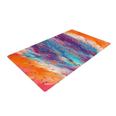 Danny Ivan Colorful Fire Cool Fire Area Rug Rug Size: 2 x 3