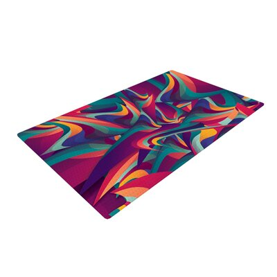 Danny Ivan Wrong Past Teal/Purple Area Rug
