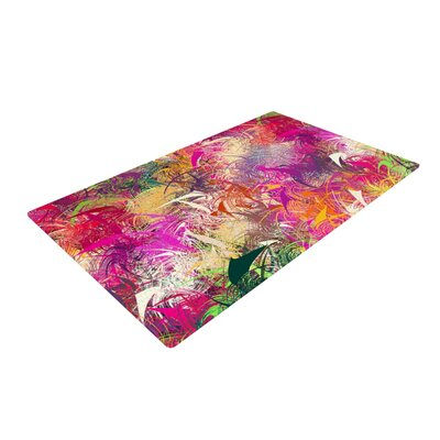 Danny Ivan Splash Rainbow Abstract Pink/Red Area Rug Rug Size: 4 x 6