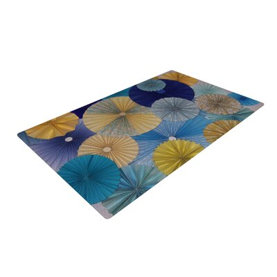 Heidi Jennings Suspension Gold/Blue Area Rug Rug Size: 2 x 3