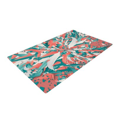 Danny Ivan Like Explosion Pink/Teal Area Rug Rug Size: Rectangle 2 x 3