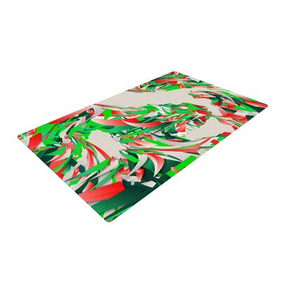Danny Ivan Italy World Cup Green/Cream Area Rug Rug Size: 4 x 6