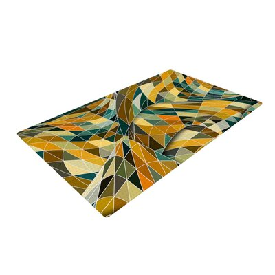 Danny Ivan Bring You Back Yellow/Teal Area Rug Rug Size: 2 x 3