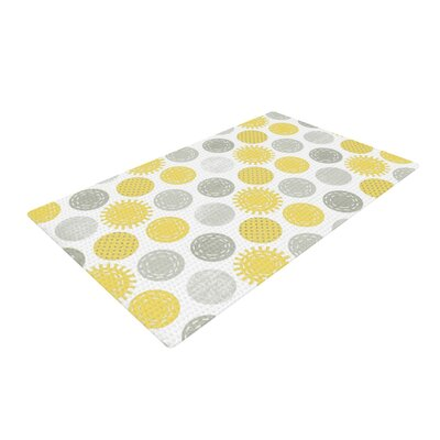 Heidi Jennings Sunspot Spots Yellow Area Rug Rug Size: 2 x 3