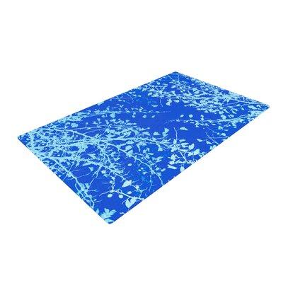 Iris Lehnhardt Twigs Silhouette Aqua/Blue Area Rug Rug Size: 4 x 6