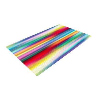 Danny Ivan Blurry Cool Rainbow Blur Area Rug Rug Size: Rectangle 2 x 3
