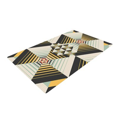 Danny Ivan La Plus Black/Yellow Area Rug Rug Size: 2 x 3