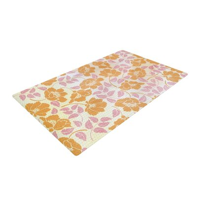 Heidi Jennings Sun Kissed Petals Orange/Pink Area Rug Rug Size: 4 x 6