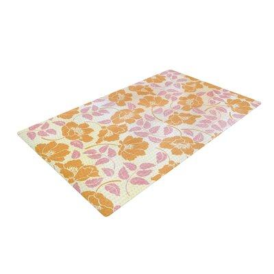 Heidi Jennings Sun Kissed Petals Orange/Pink Area Rug Rug Size: 2 x 3