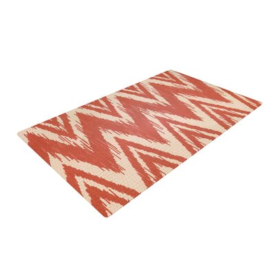 Heidi Jennings Tribal Chevron Maroon/Red Area Rug Rug Size: 4 x 6