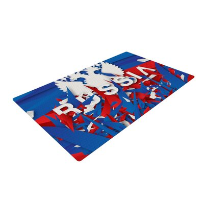 Danny Ivan Russia World Cup Blue/Red Area Rug Rug Size: 4 x 6