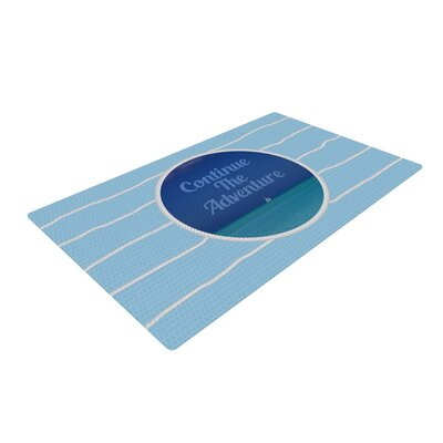 Deepti Munshaw Continue the Adventure Blue/Aqua Area Rug Rug Size: 2 x 3