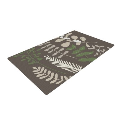 Deck the Hollies Green/Brown Area Rug Rug Size: 4 x 6