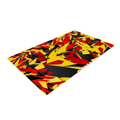 Danny Ivan Germany World Cup Yellow/Red/Black Area Rug Rug Size: Rectangle 4 x 6