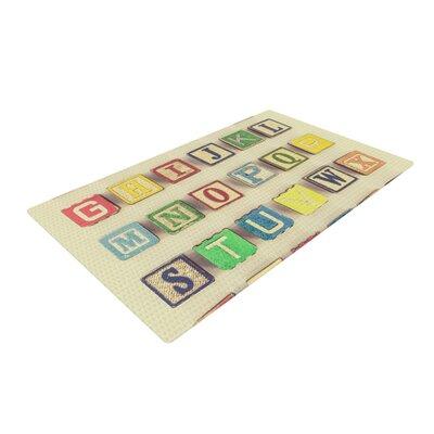Debbra Obertanec Vintage ABCs Wooden Letters Cream Area Rug