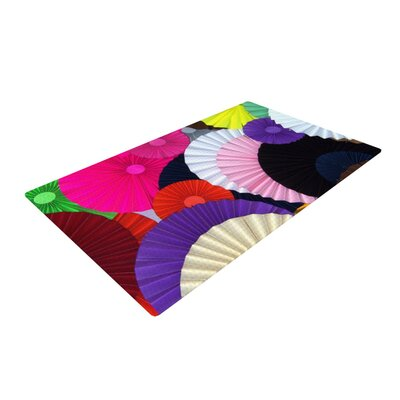 Heidi Jennings Madness Circle Rainbow Area Rug Rug Size: 2 x 3