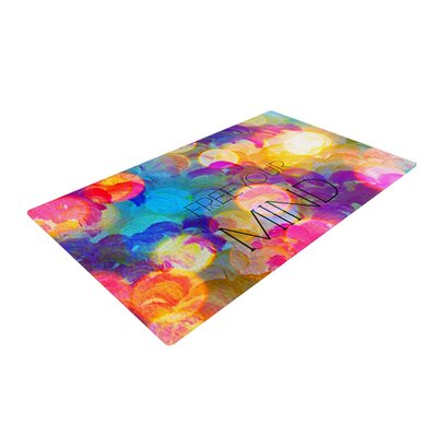 Ebi Emporium Free Your Mind Rainbow Area Rug