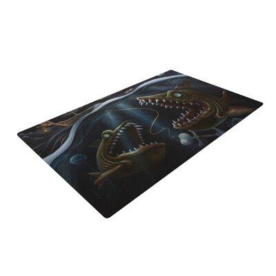 Graham Curran Sink or Swim Dark Brown Area Rug Rug Size: 2 x 3