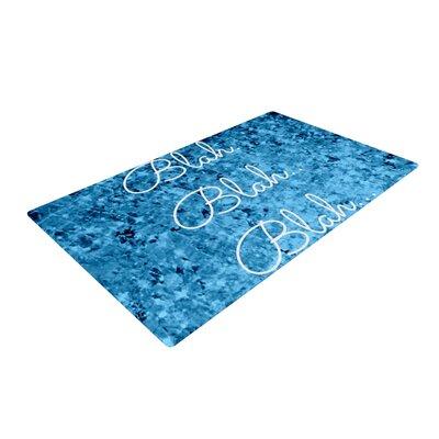 Ebi Emporium Blah Blah Blah Glitter Blue Area Rug Rug Size: 2 x 3