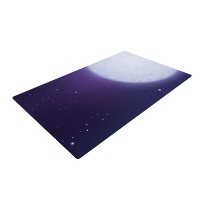 Fotios Pavlopoulos Full Moon Night Sky Purple Area Rug Rug Size: 4 x 6