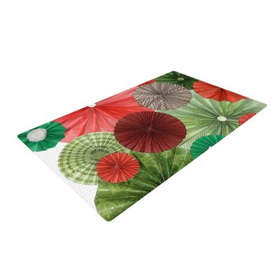 Heidi Jennings Christmas Remix Holiday Green/Red Area Rug Rug Size: 2 x 3