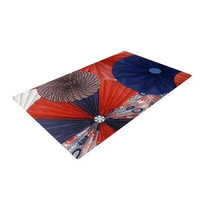 Heidi Jennings Liberty Red/Blue Area Rug Rug Size: 4 x 6