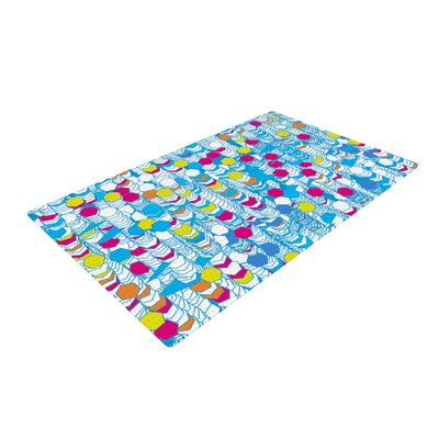 Frederic Levy-Hadida Hiving Abstract Blue Area Rug Rug Size: 4 x 6
