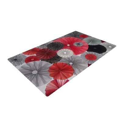 Heidi Jennings Kyoto Red/Black Area Rug Rug Size: 4 x 6
