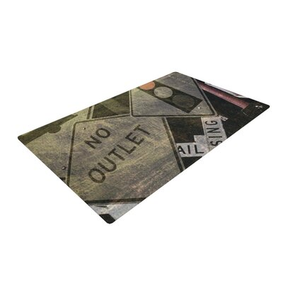 Heidi Jennings City Outing Urban Signs Gray Area Rug Rug Size: 2 x 3