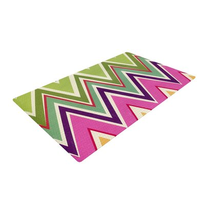 Heidi Jennings Clash of Chevron Rainbow Area Rug Rug Size: 4 x 6