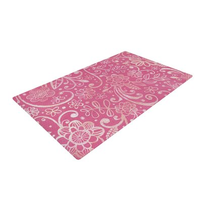Heidi Jennings Too Much Floral Magenta Area Rug Rug Size: 4 x 6