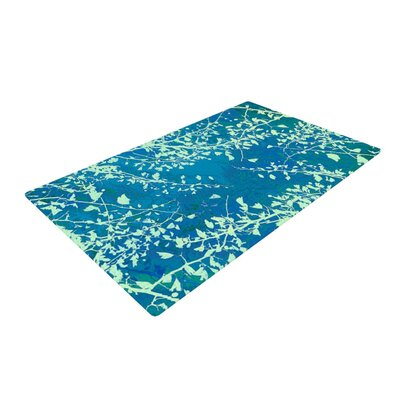Iris Lehnhardt Twigs Silhouette Green/Teal Area Rug Rug Size: 2 x 3