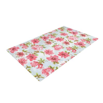 Heidi Jennings Petals Forever Blue/Pink Area Rug Rug Size: 2 x 3