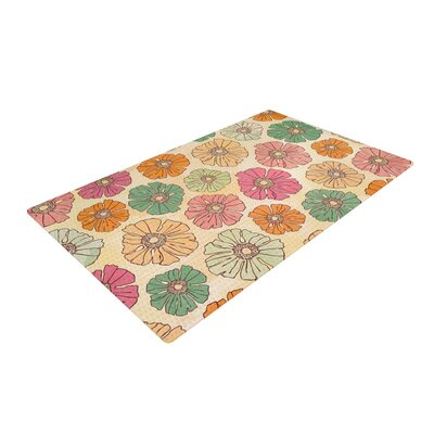 Heidi Jennings Vintage Petals Tan/Pink Area Rug Rug Size: 4 x 6