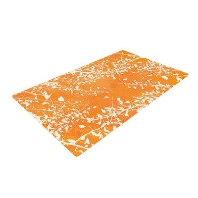 Iris Lehnhardt Twigs Silhouette Tangerine Area Rug Rug Size: 2 x 3